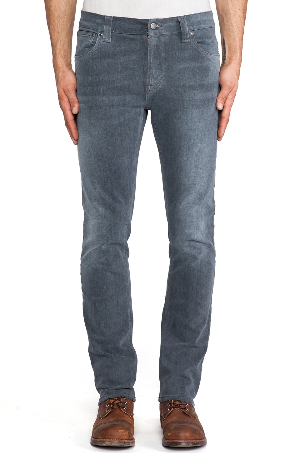 Nudie Jeans Thin Finn in Org. Lighter Shade