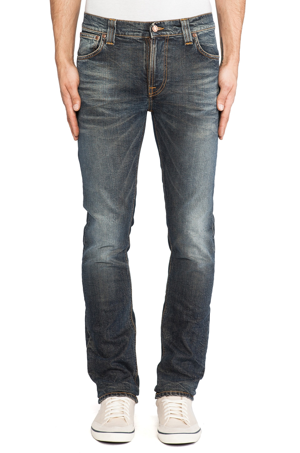 Nudie Jeans Thin Finn in Org. Dark Frost
