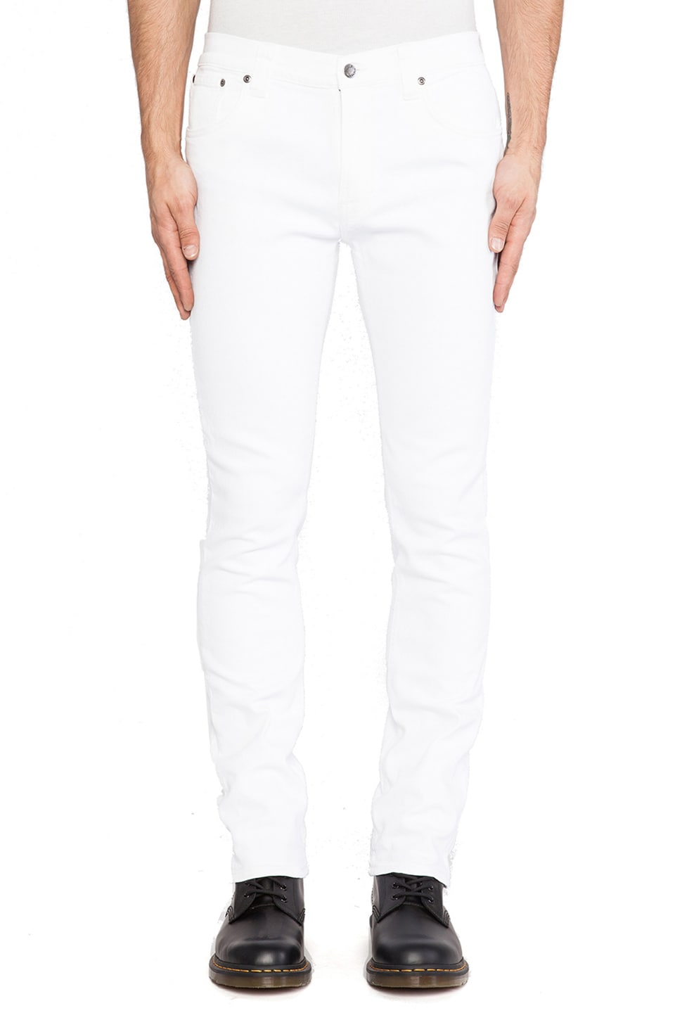 Nudie Jeans Thin Finn in Org. White Noice