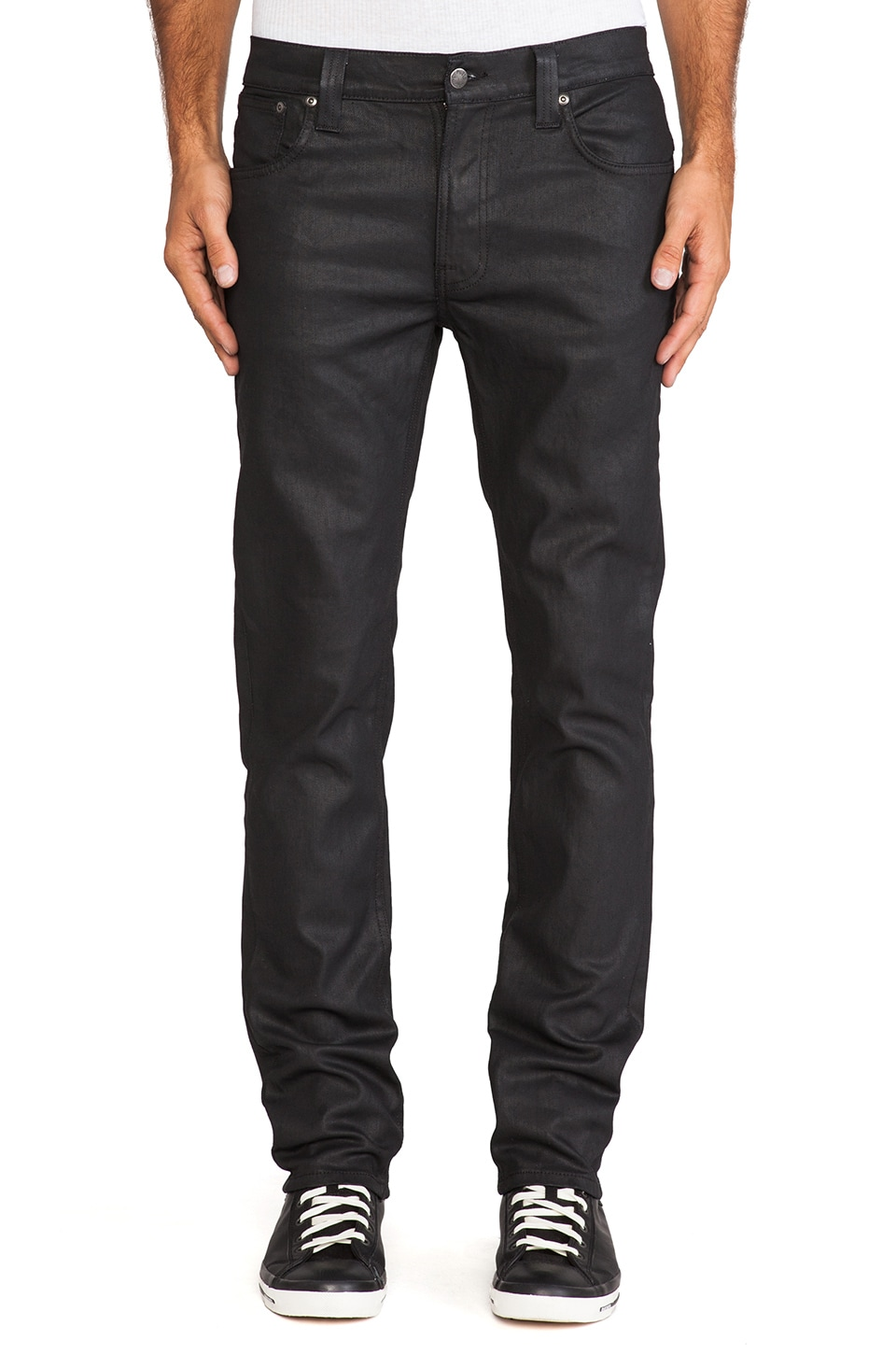 Nudie Jeans Thin Finn in Dry Back 2 Black