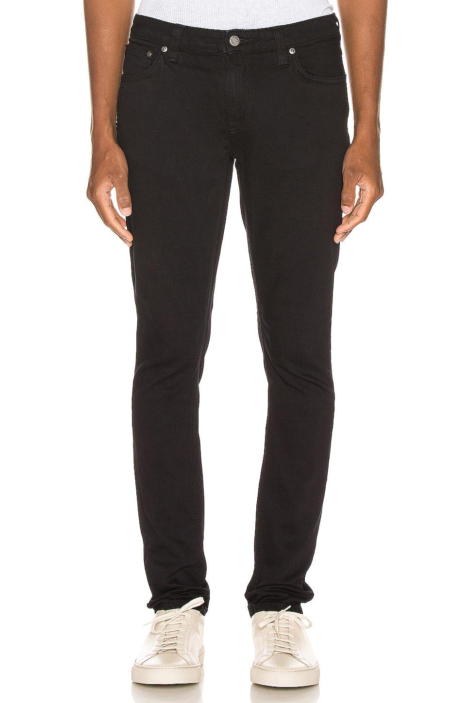 Nudie Jeans Skinny Lin in Black Black