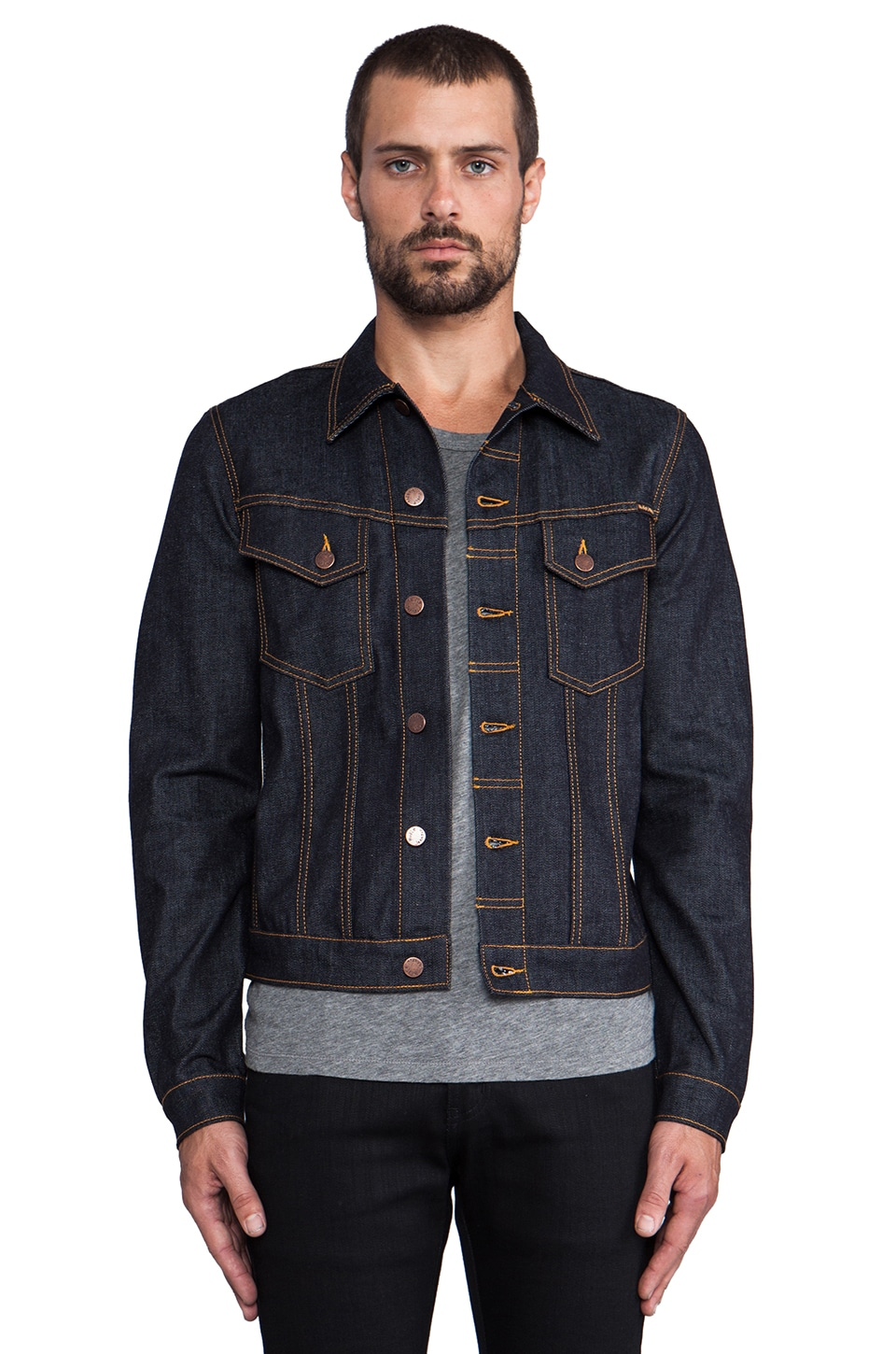 Nudie Jeans Perry Jean Jacket in Org. Dry Comfort