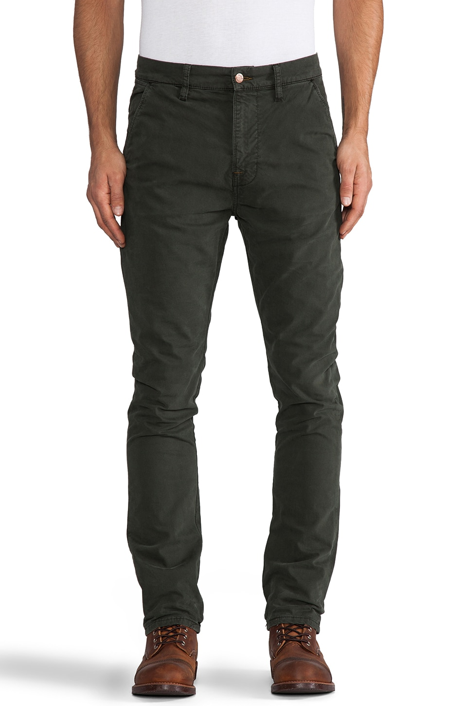 Nudie Jeans Khaki Slim in Org. Forest Night