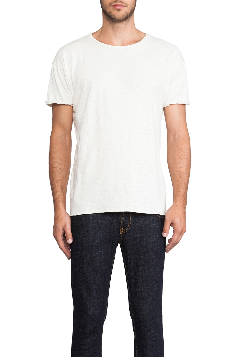 Nudie Jeans Round Neck Tee in White