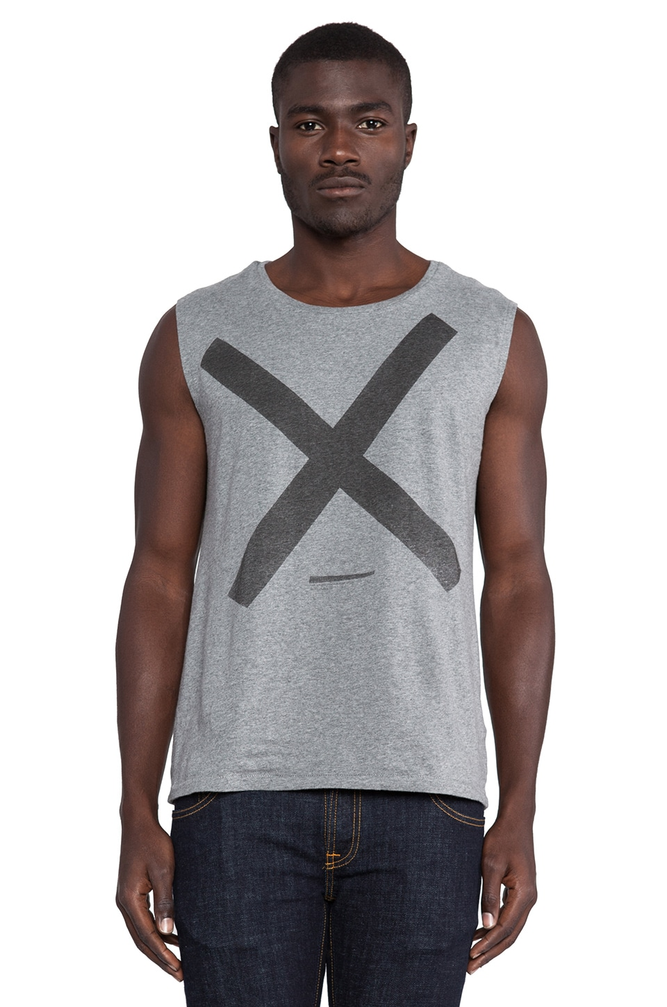 Nudie Jeans Cross Tank in Grey Melange