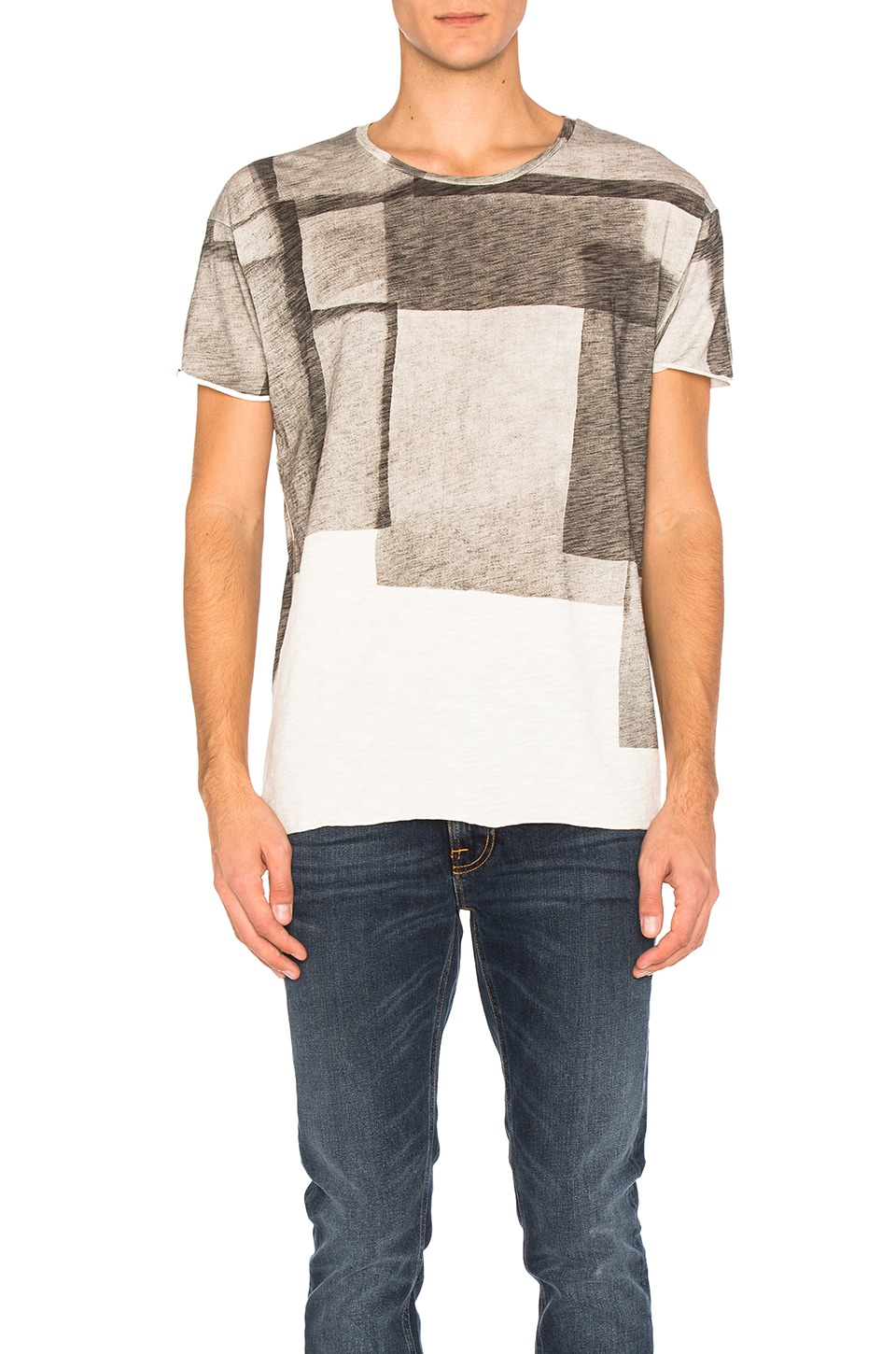 Unfinished Hem Club Collage T Shirt by Nudie Jeans