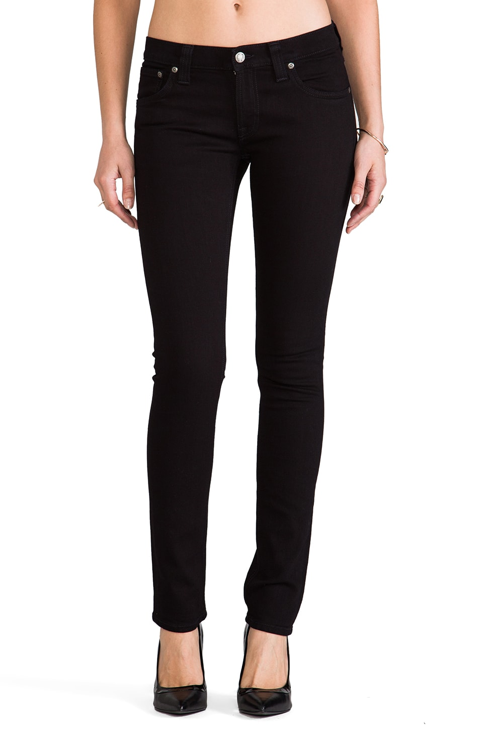 Nudie Jeans Tight Long John Skinny in Black Black