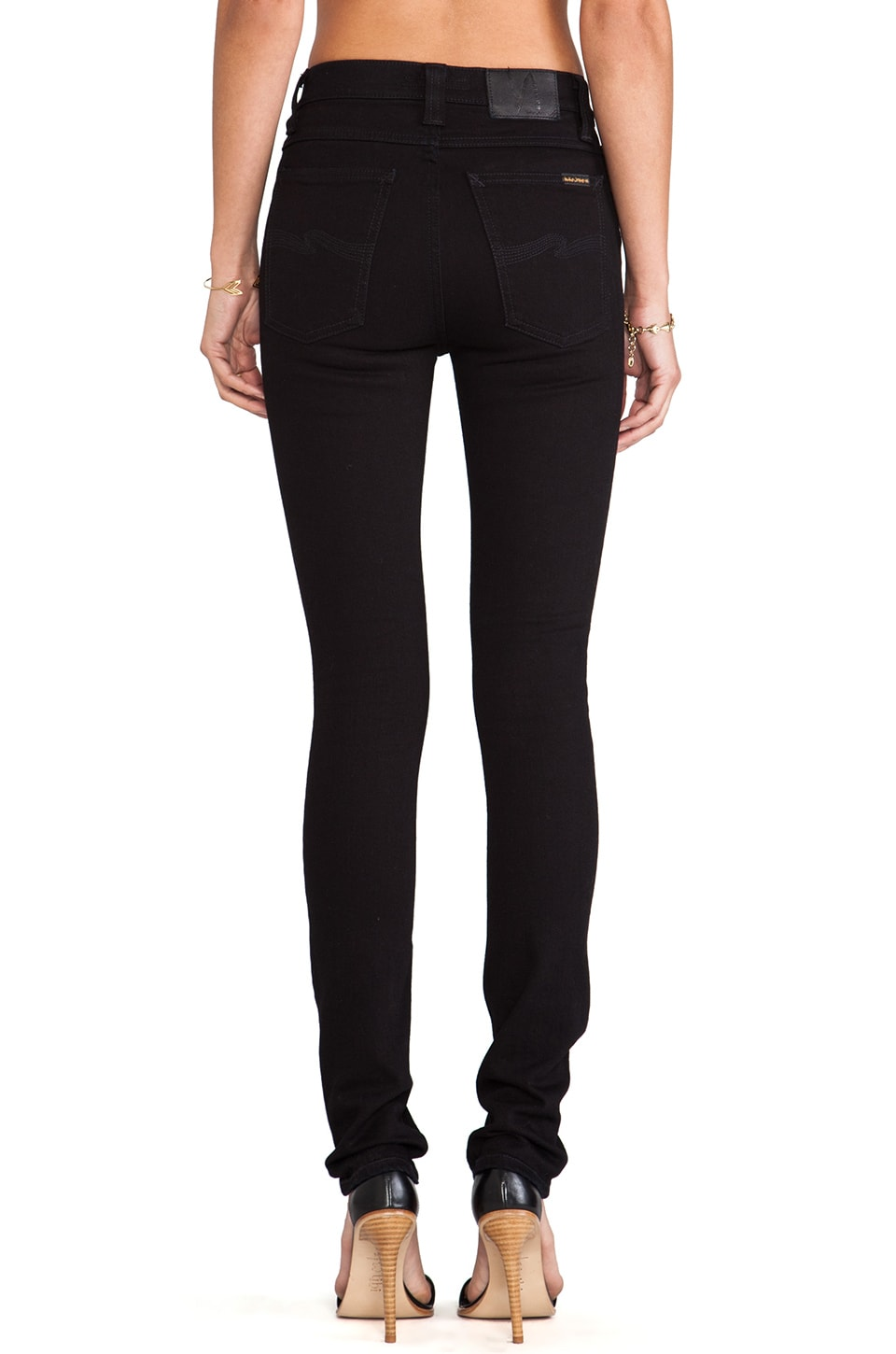 Nudie Jeans High Kai Skinny in Black Black