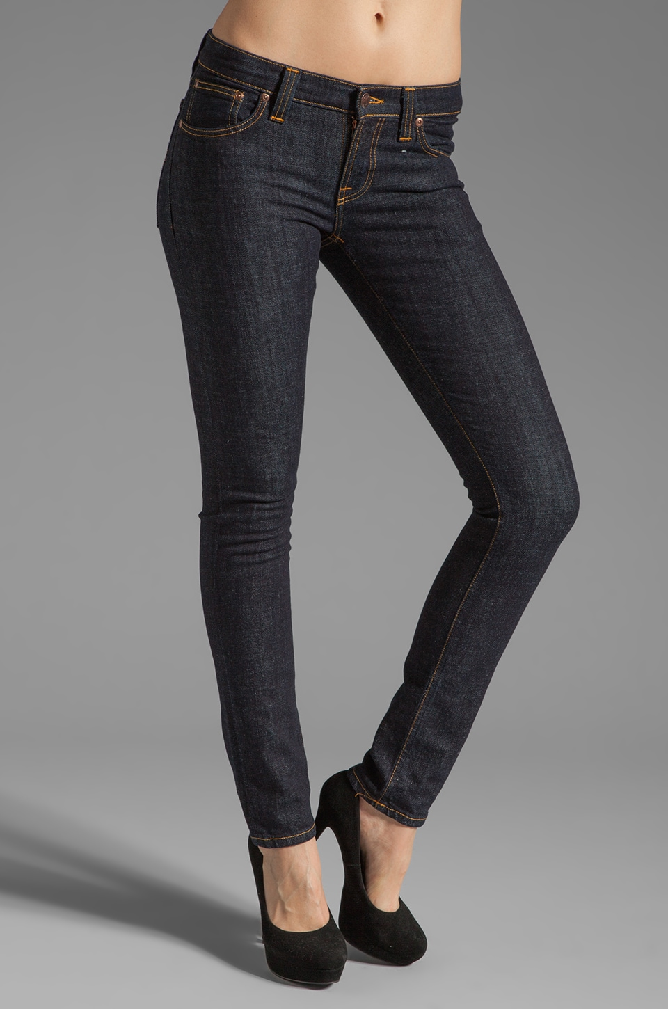 Nudie Jeans Tight Long John in Organic Twill Rinsed