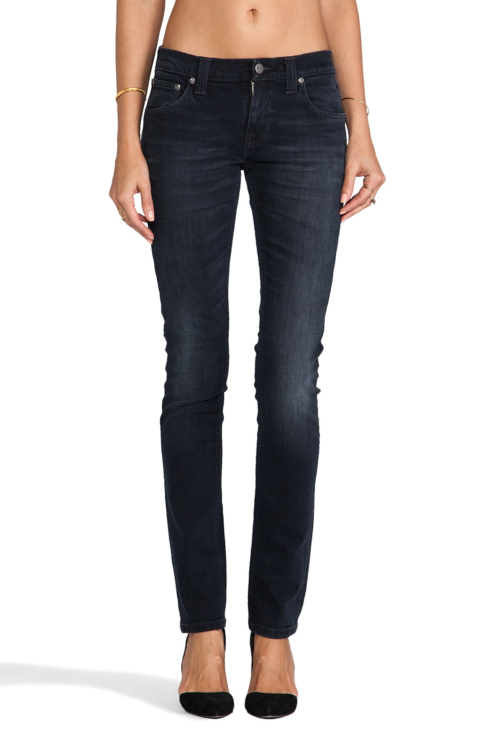 Nudie Jeans Tight Long John in Organic Black and Grey