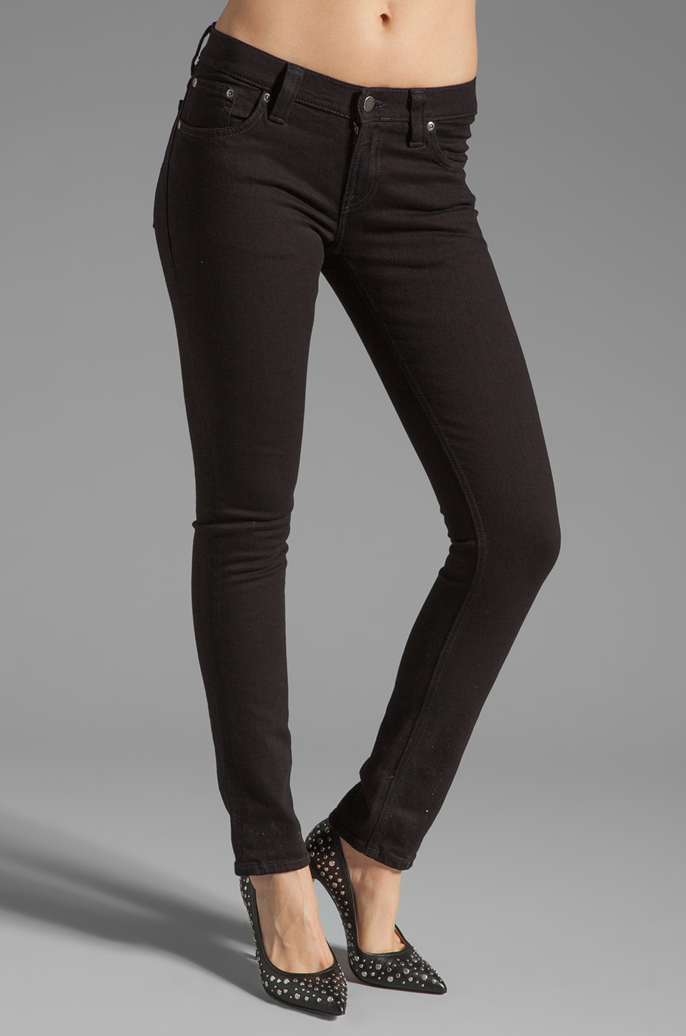 Nudie Jeans Tight Long John in Organic Black Black