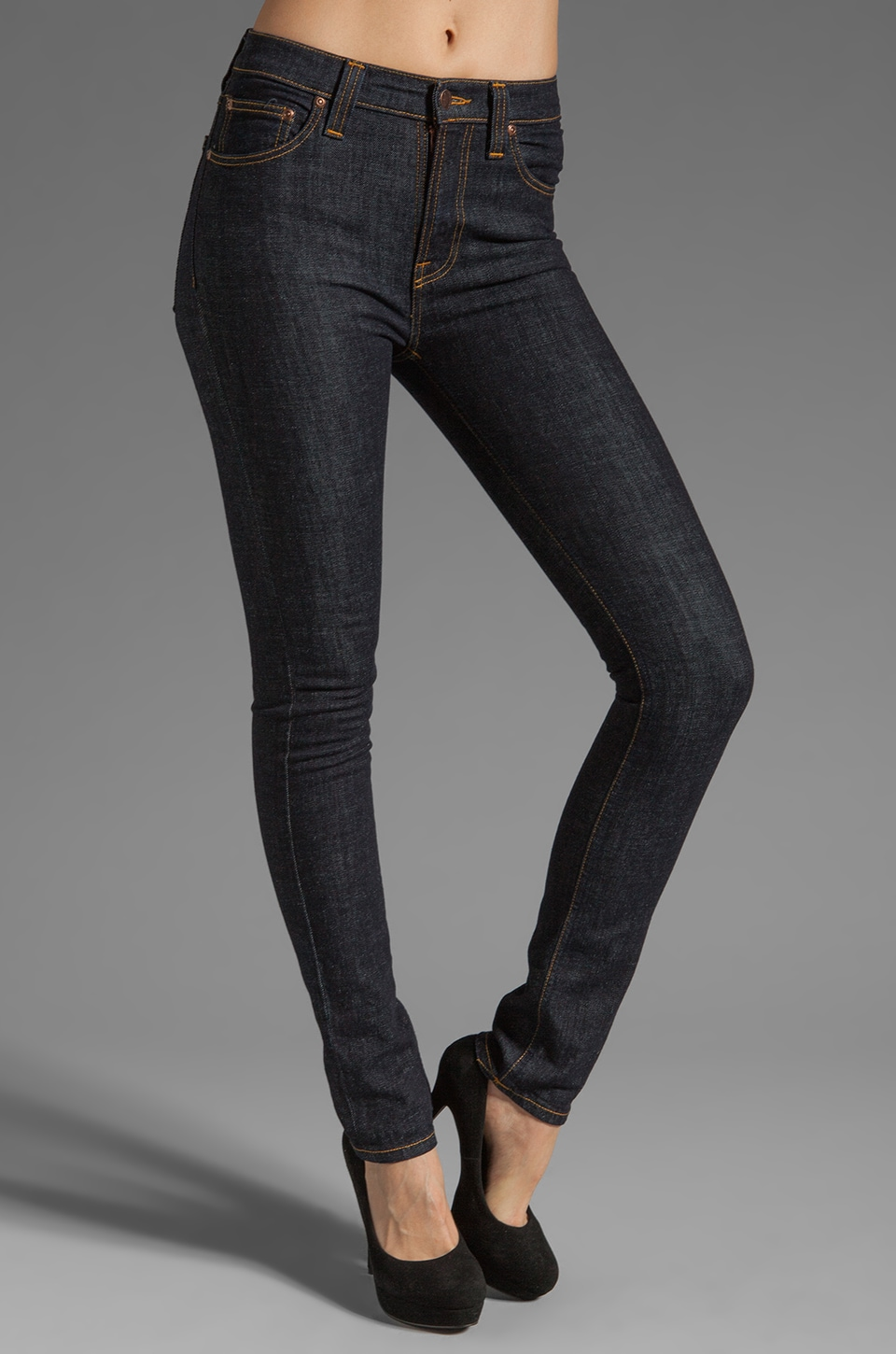 Nudie Jeans High Kai in Organic Twill Navy