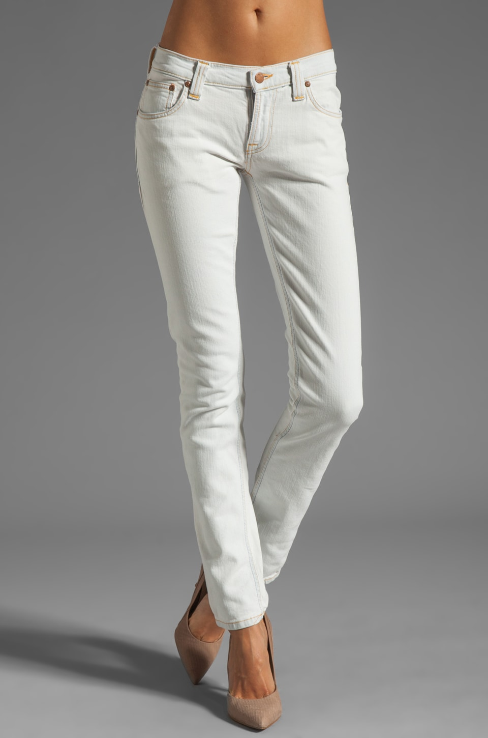 Nudie Jeans Tight Long John in Organic Bleach White