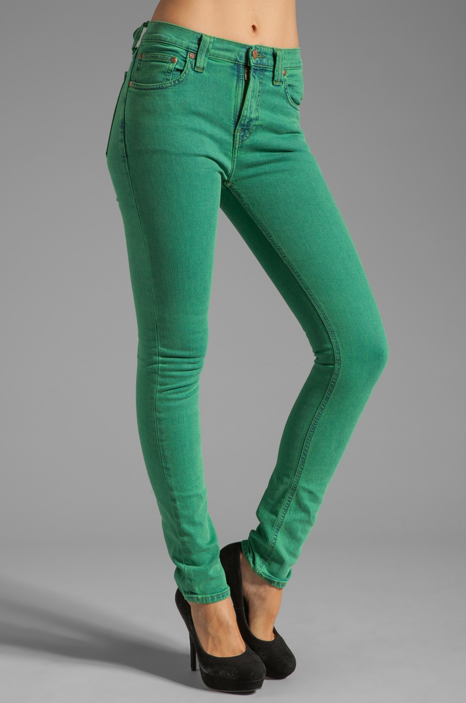 Nudie Jeans High Kai in Organic Icon Green