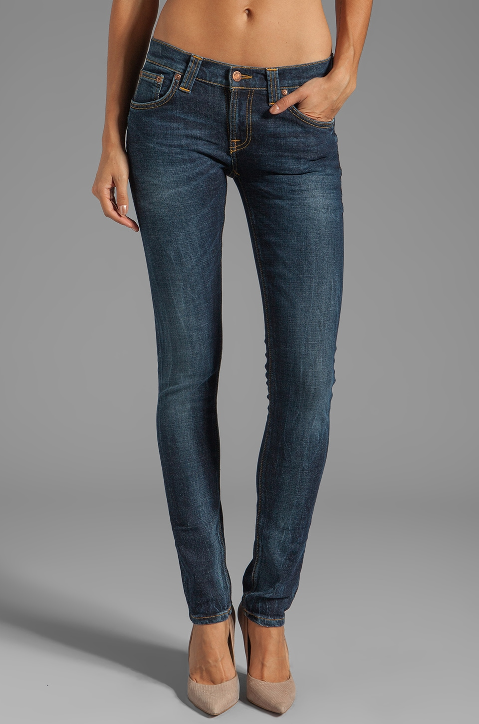 Nudie Jeans Tight Long John in Org Calm Blues