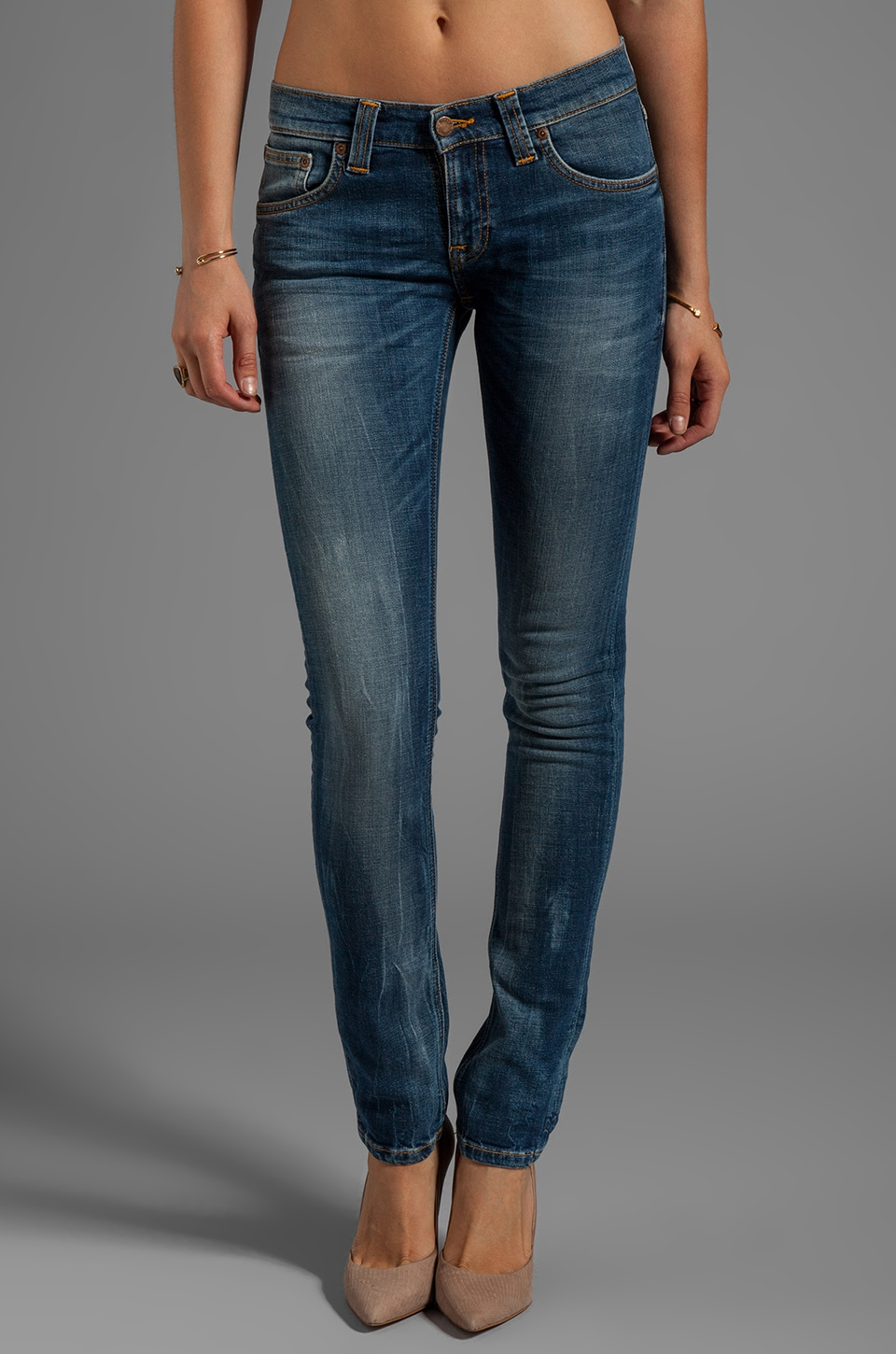 Nudie Jeans Tight Long John in Org Grey Blues