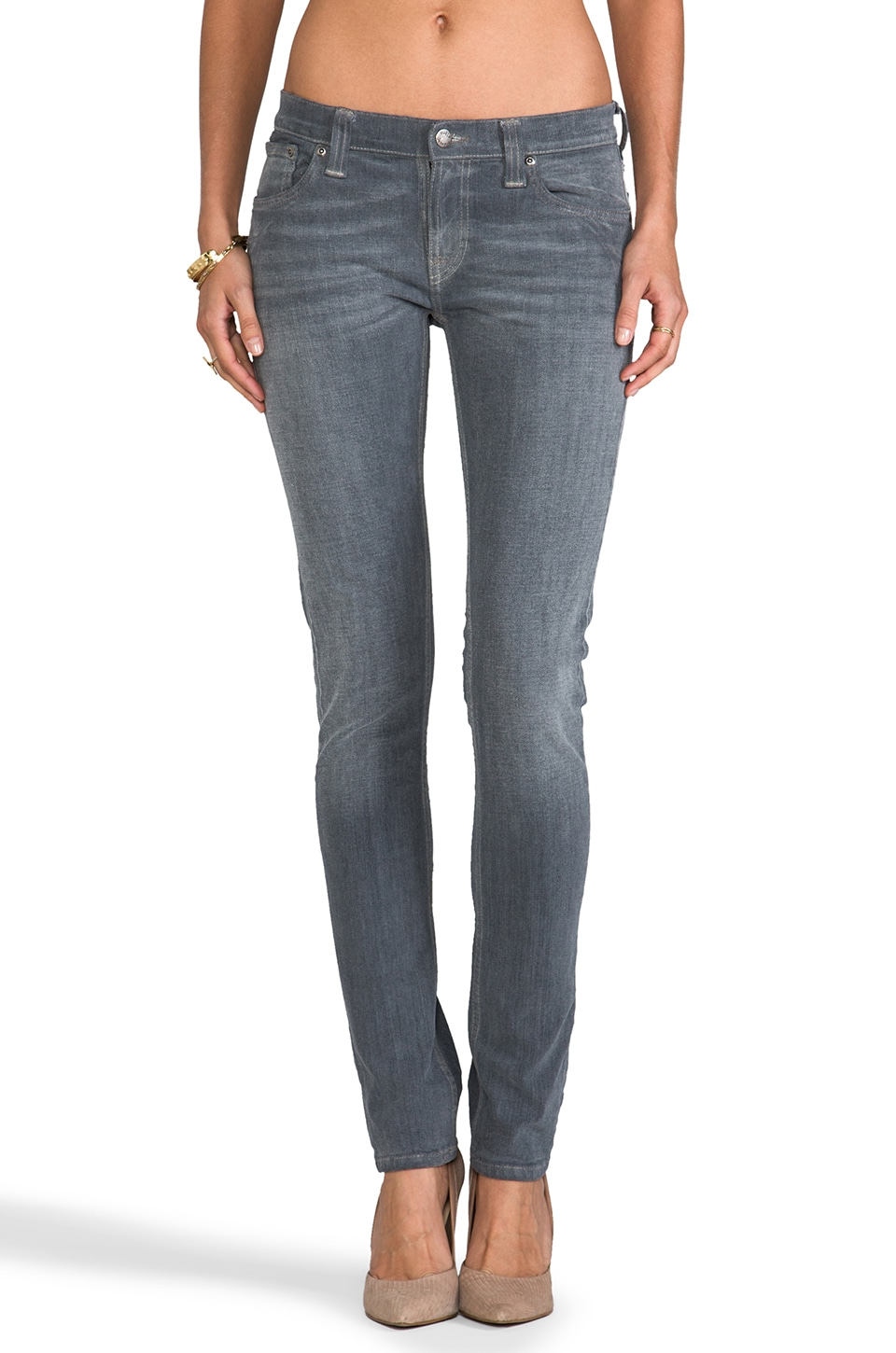 Nudie Jeans Tight Long John in Org Charcoal
