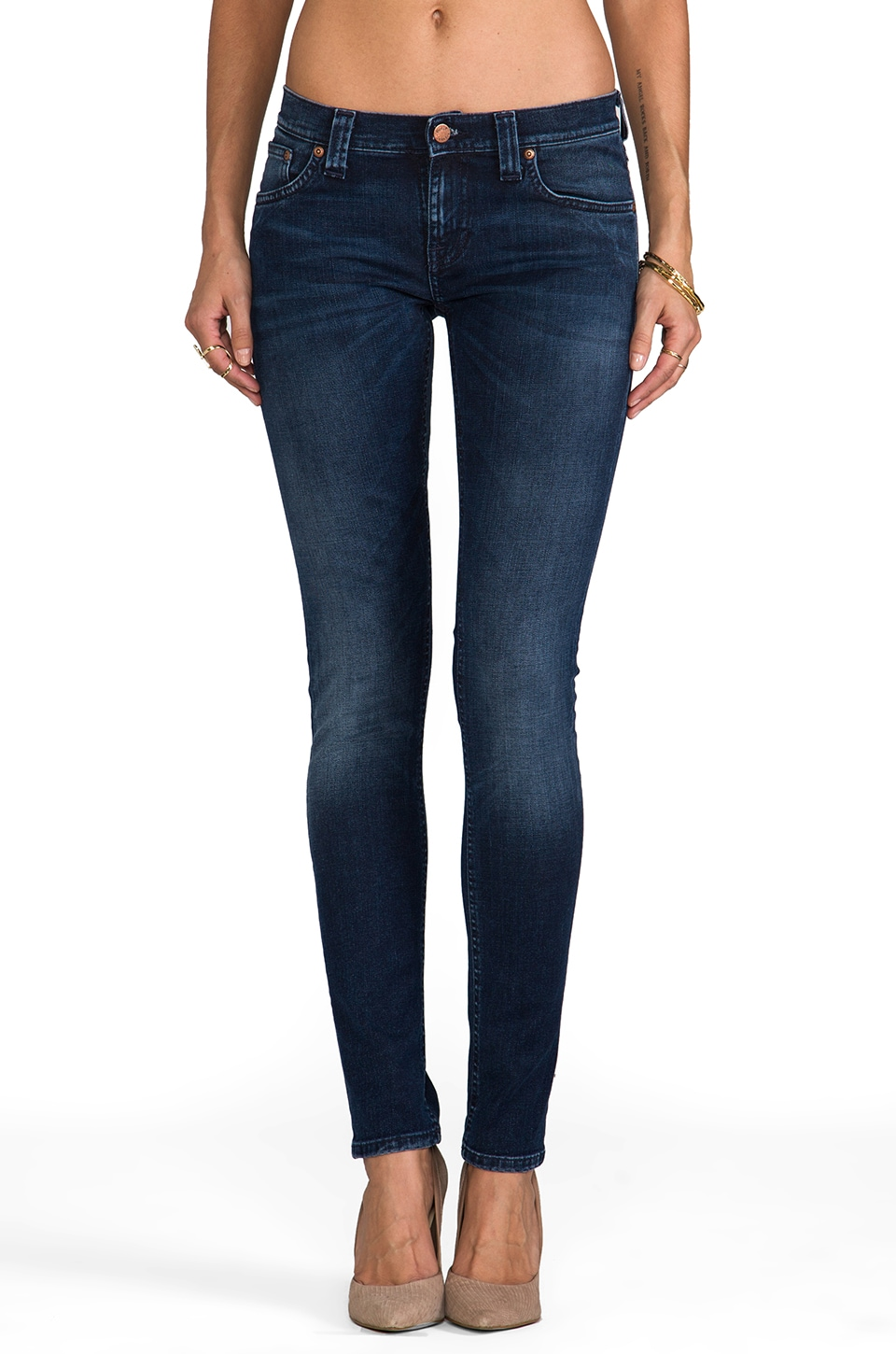 Nudie Jeans Tight Long John in Org Blue Dot