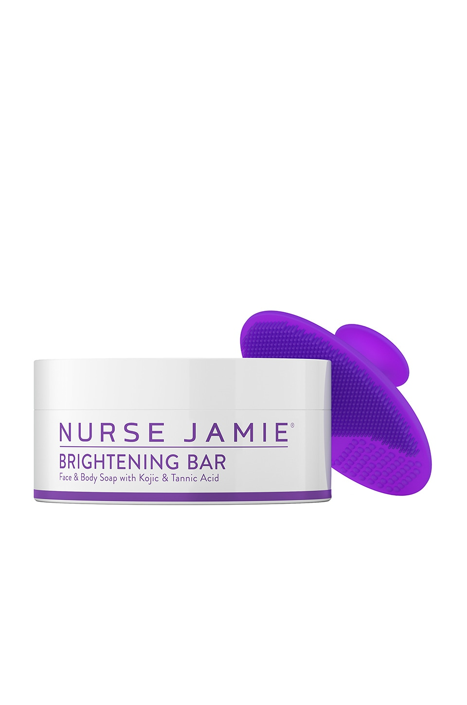 Nurse Jamie Brightening Bar & Exfolibrush Silicone Facial Brush