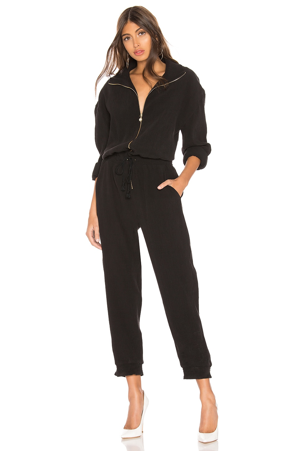 Nanushka Mercury Jumpsuit en Off Black