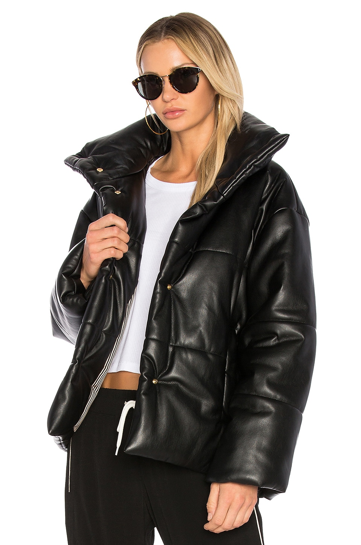 Nanushka Hide Jacket in Black