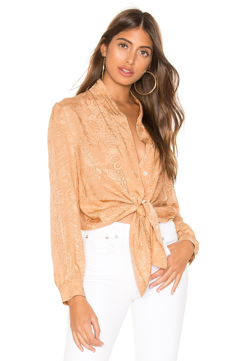 Nanushka Felice Blouse in Dusty Apricot