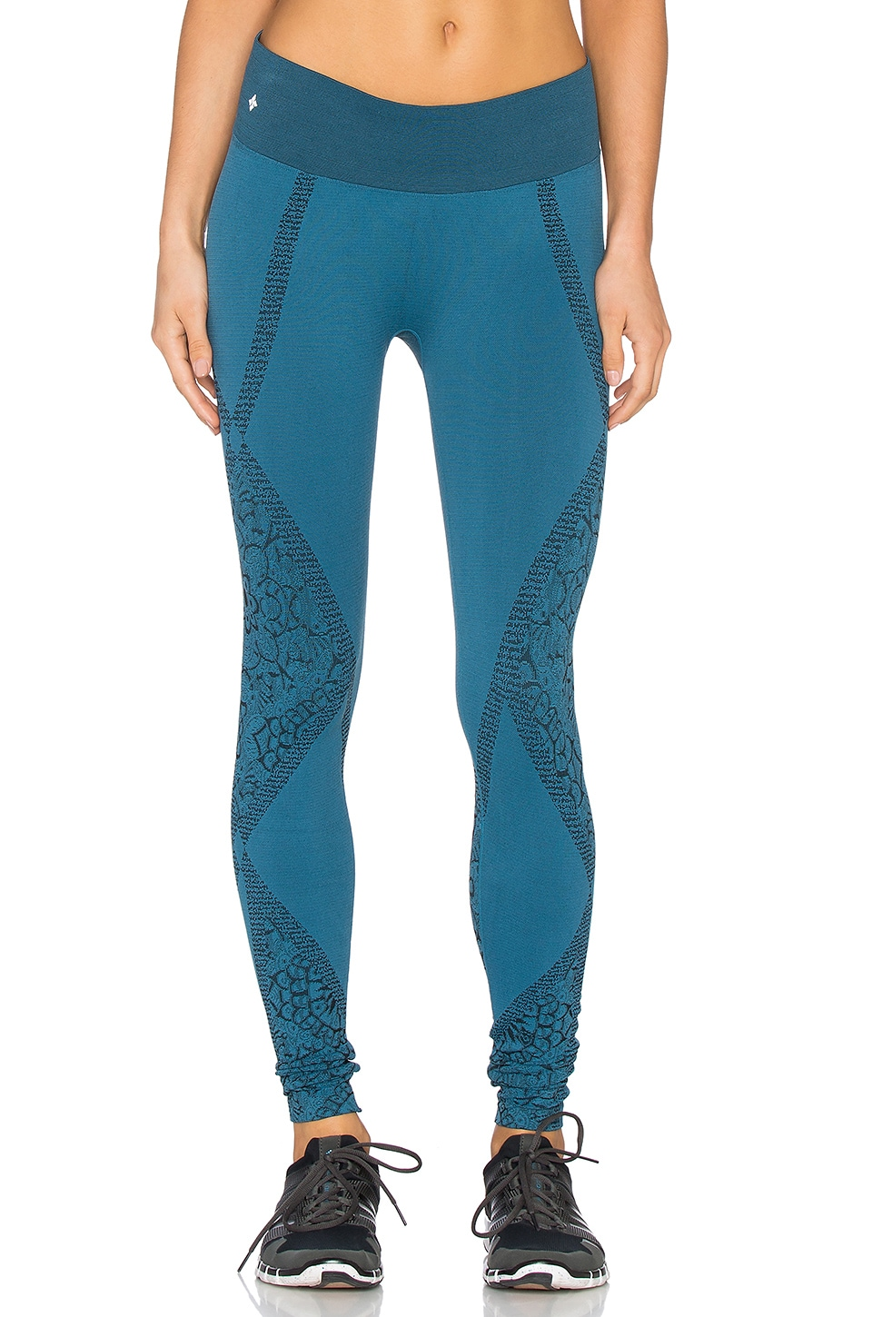 NUX Blossom Legging in Ink Green