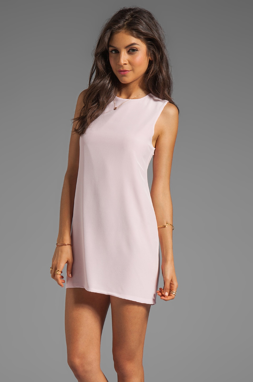 Naven Designer Twiggy Dress in Rose Quartz