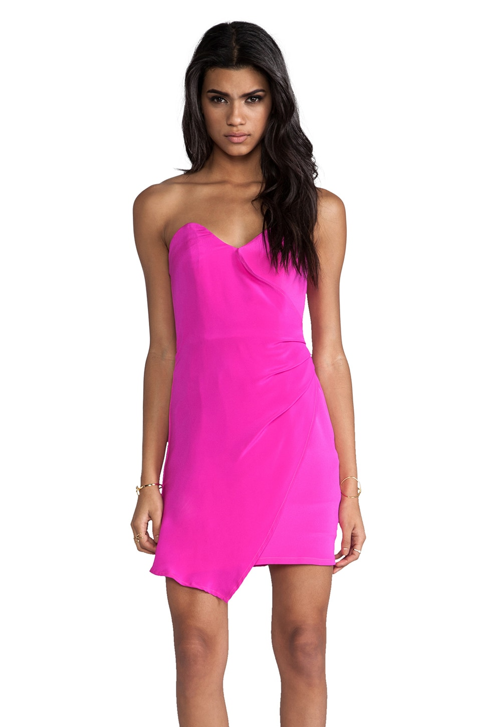 Naven Designer Heartbreaker Dress in Pop Pink