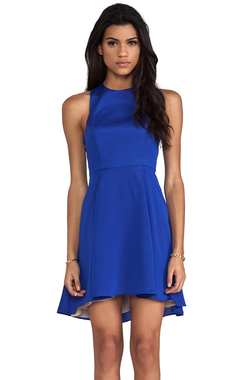 Naven EXCLUSIVE Jackie Circle Skirt Dress in Vegas Blue