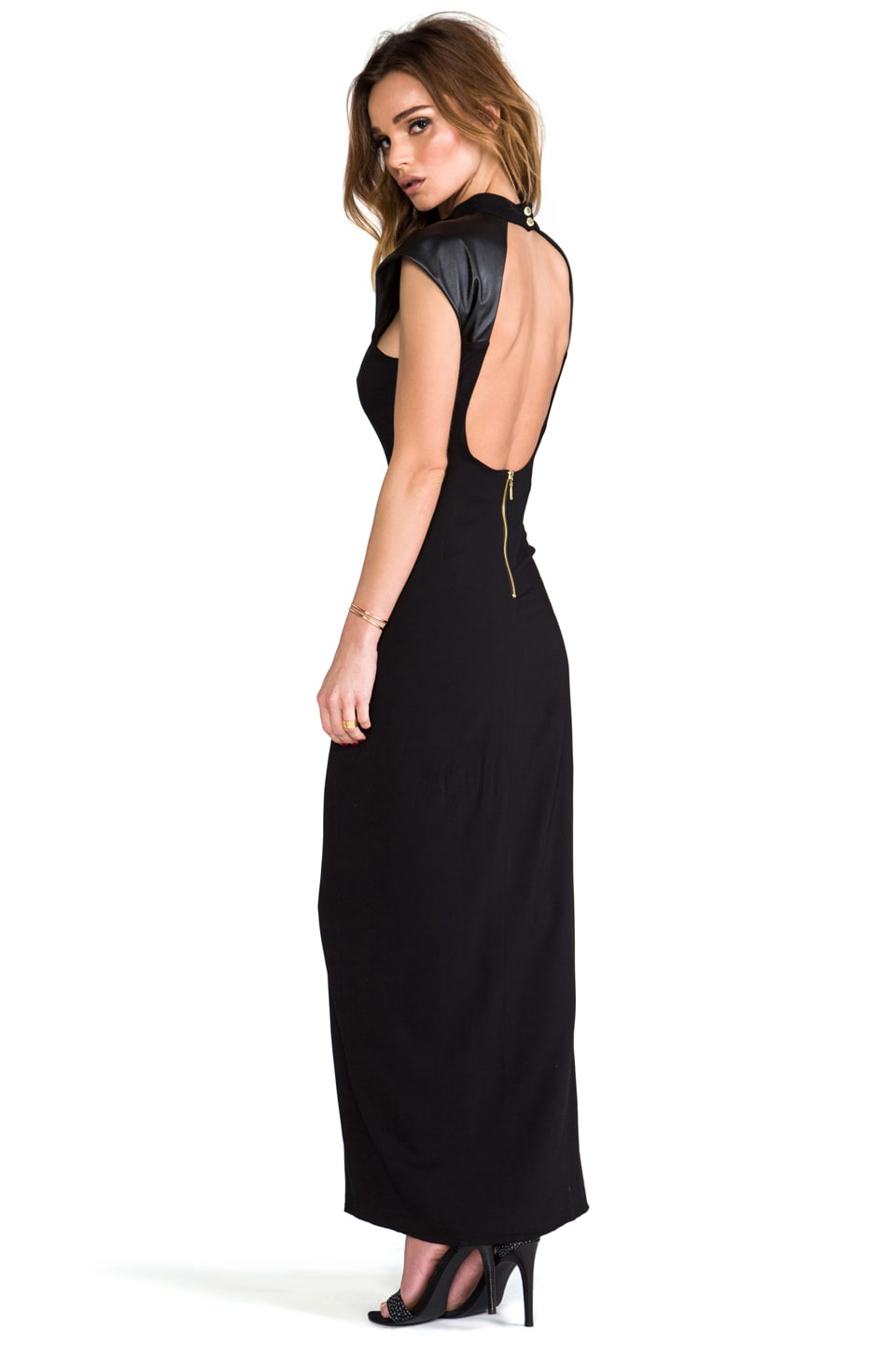 Naven Galactic Gown in Black/Black