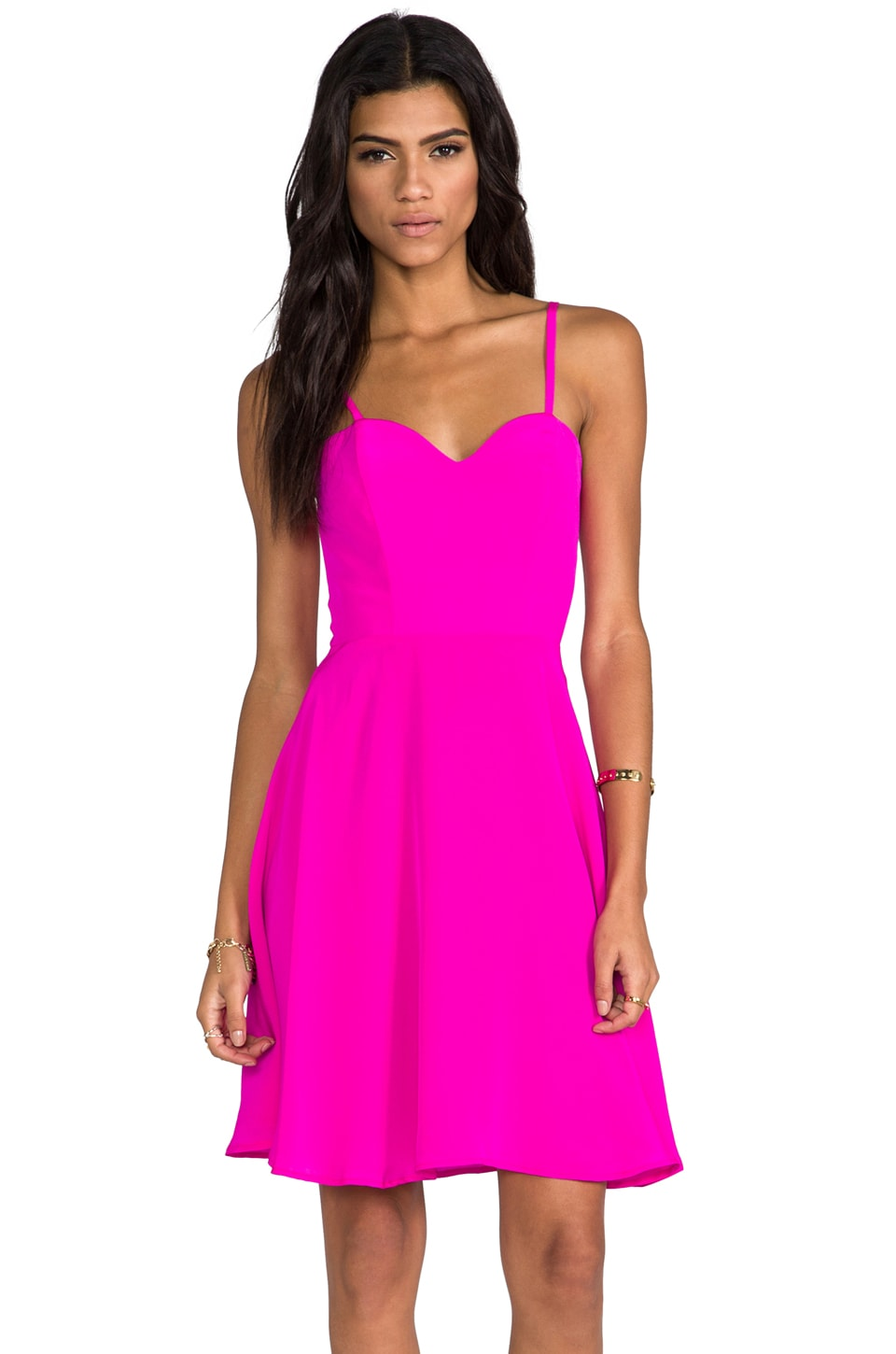 Naven Heartthrob Mini Circle Dress in Pop Pink
