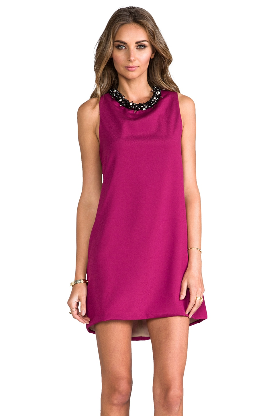 Naven Glam Twiggy Dress in Poison Berry