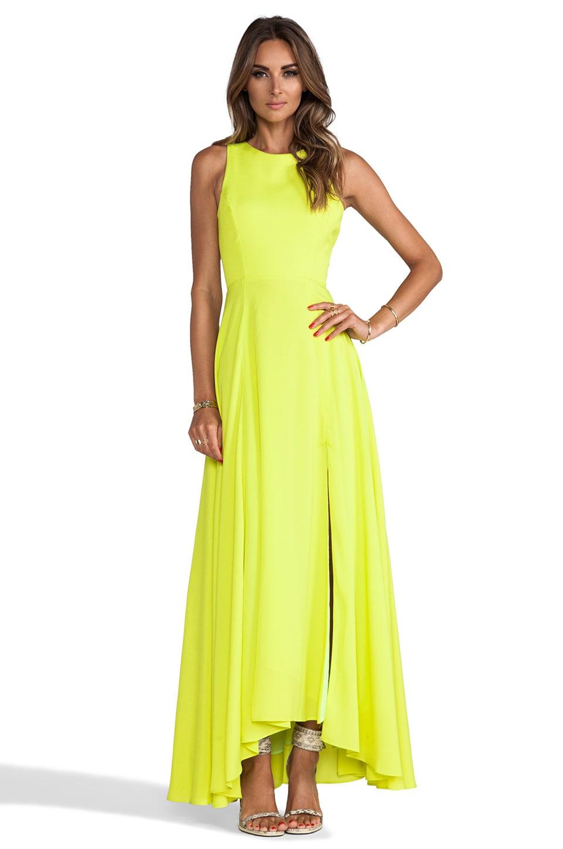 Naven Designer Siren Gown in Chartreuse