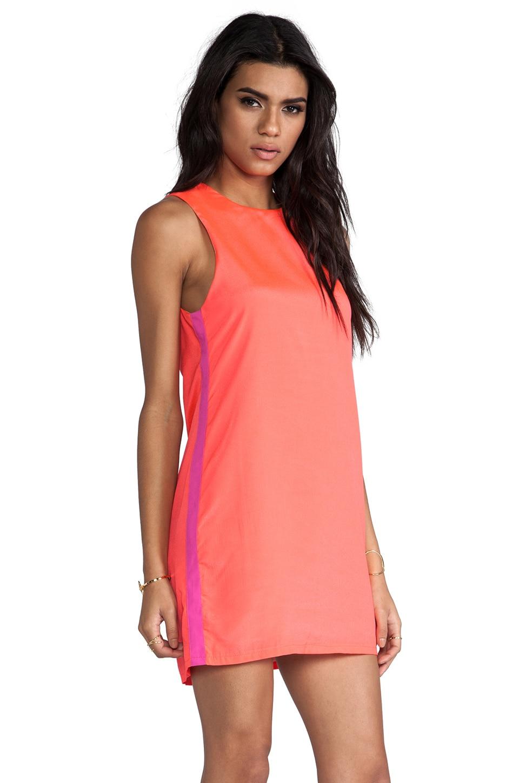 Naven Sporty Twiggy Dress in Neon Salmon/Pop Pink