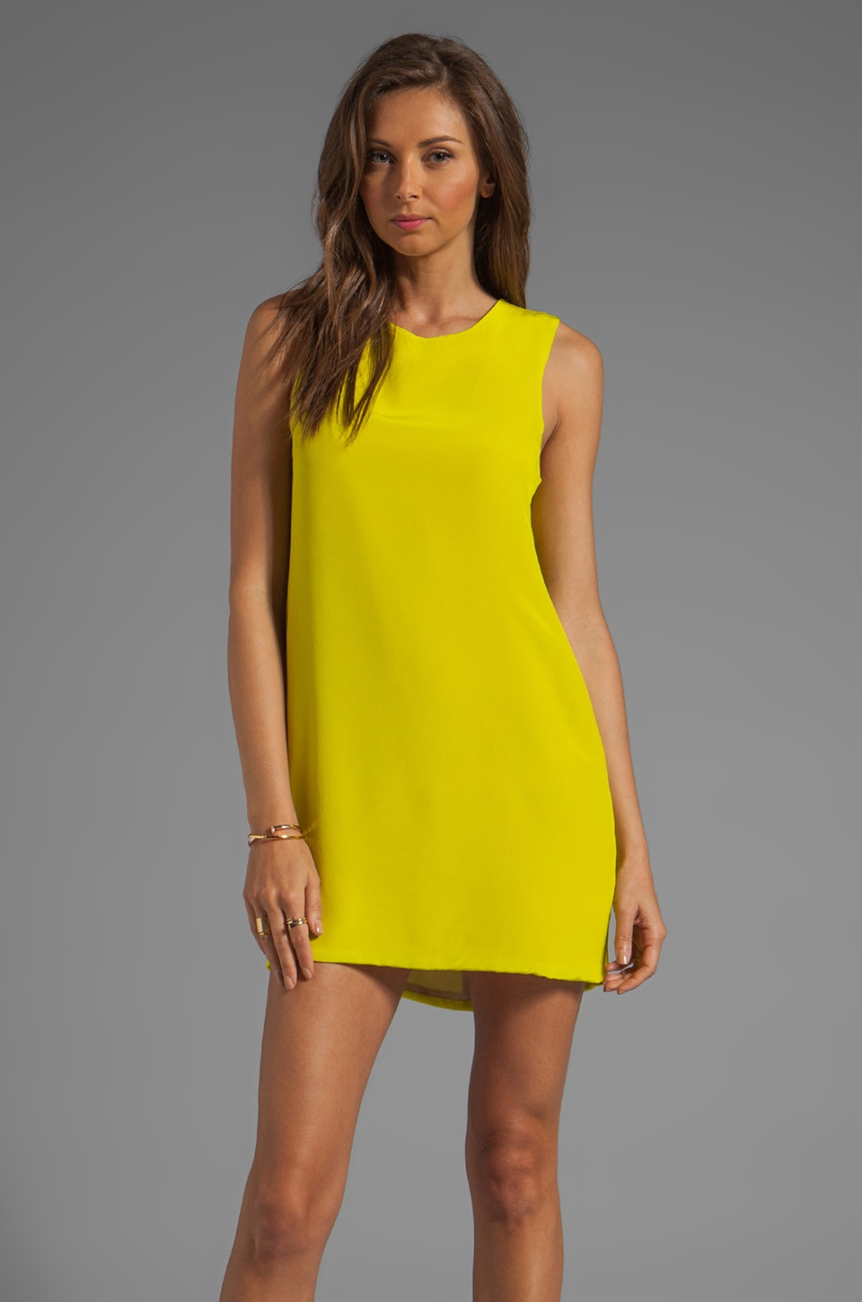Naven Twiggy Dress in Chartreuse
