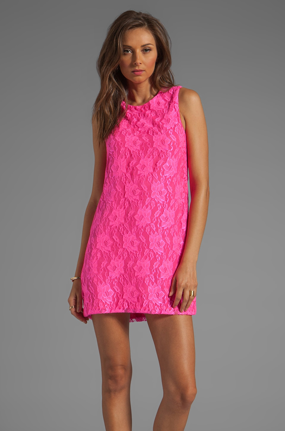 Naven Neon Collection Twiggy Dress in Neon Pink