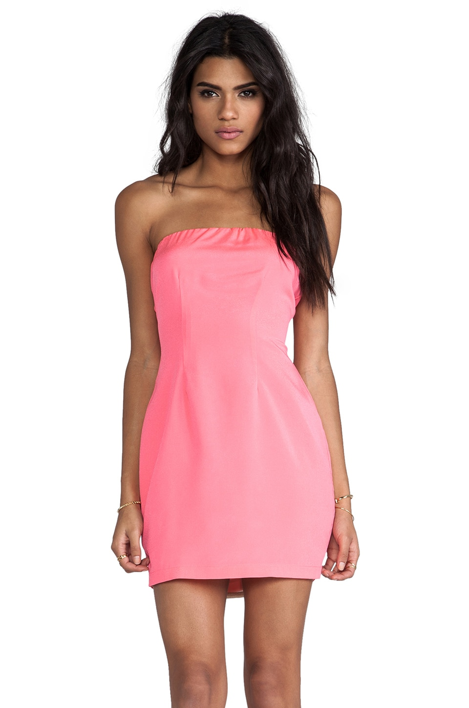 Naven Neon Collection Tube Dress in Neon Pink