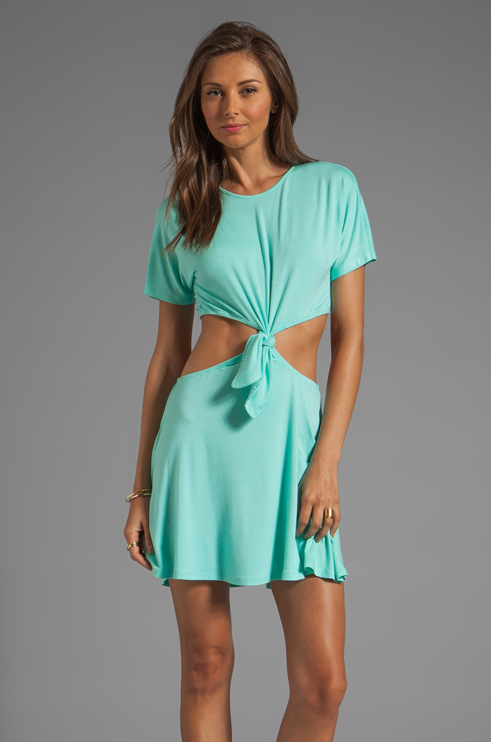 Naven Casuals Knotted T Dress in Seafoam