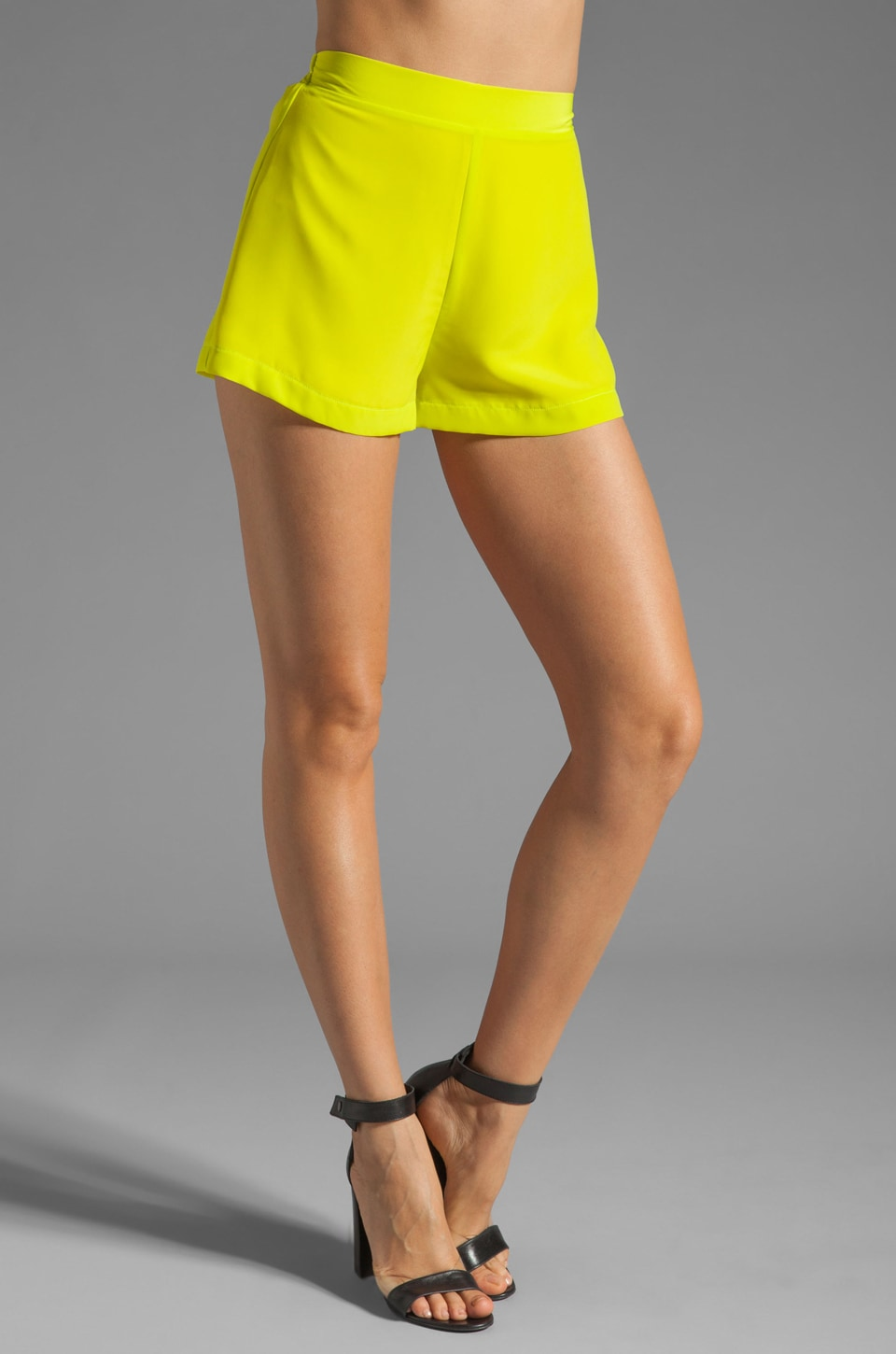 Naven Circle Shorts in Chartreuse