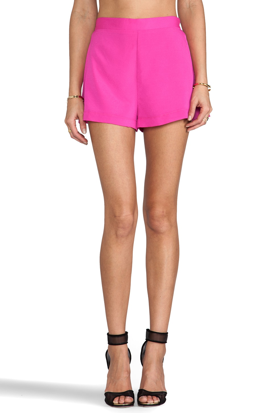 Naven Circle Shorts in Pop Pink