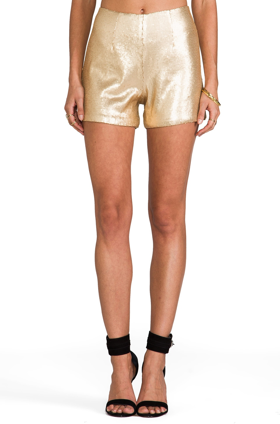 Naven Hot Shorts in Gold Shimmer