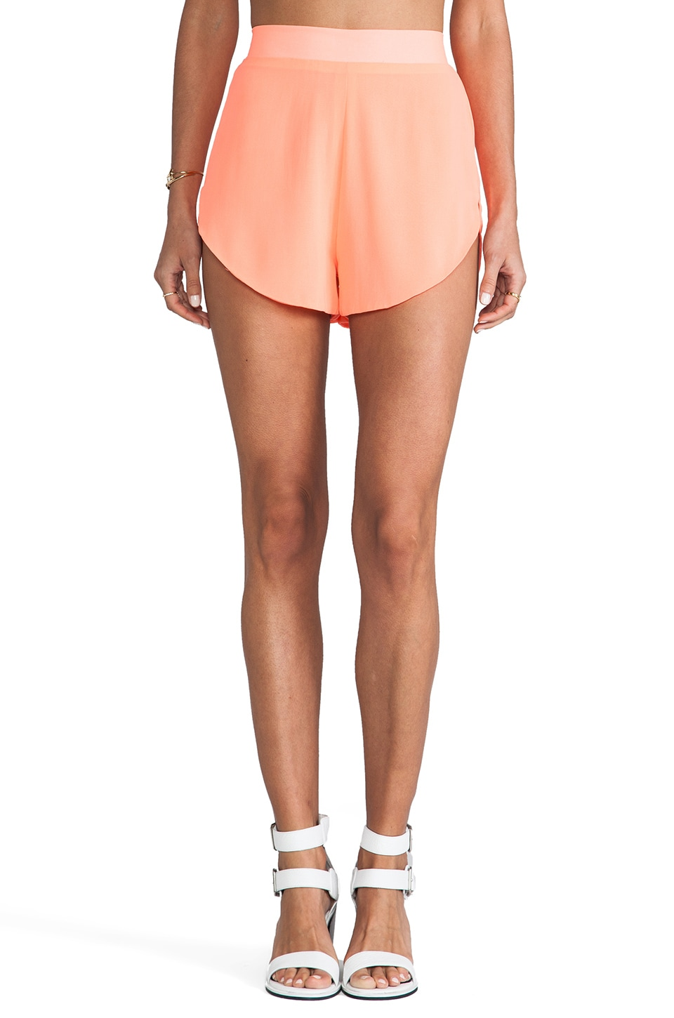 Naven Running Shorts in Neon Coral