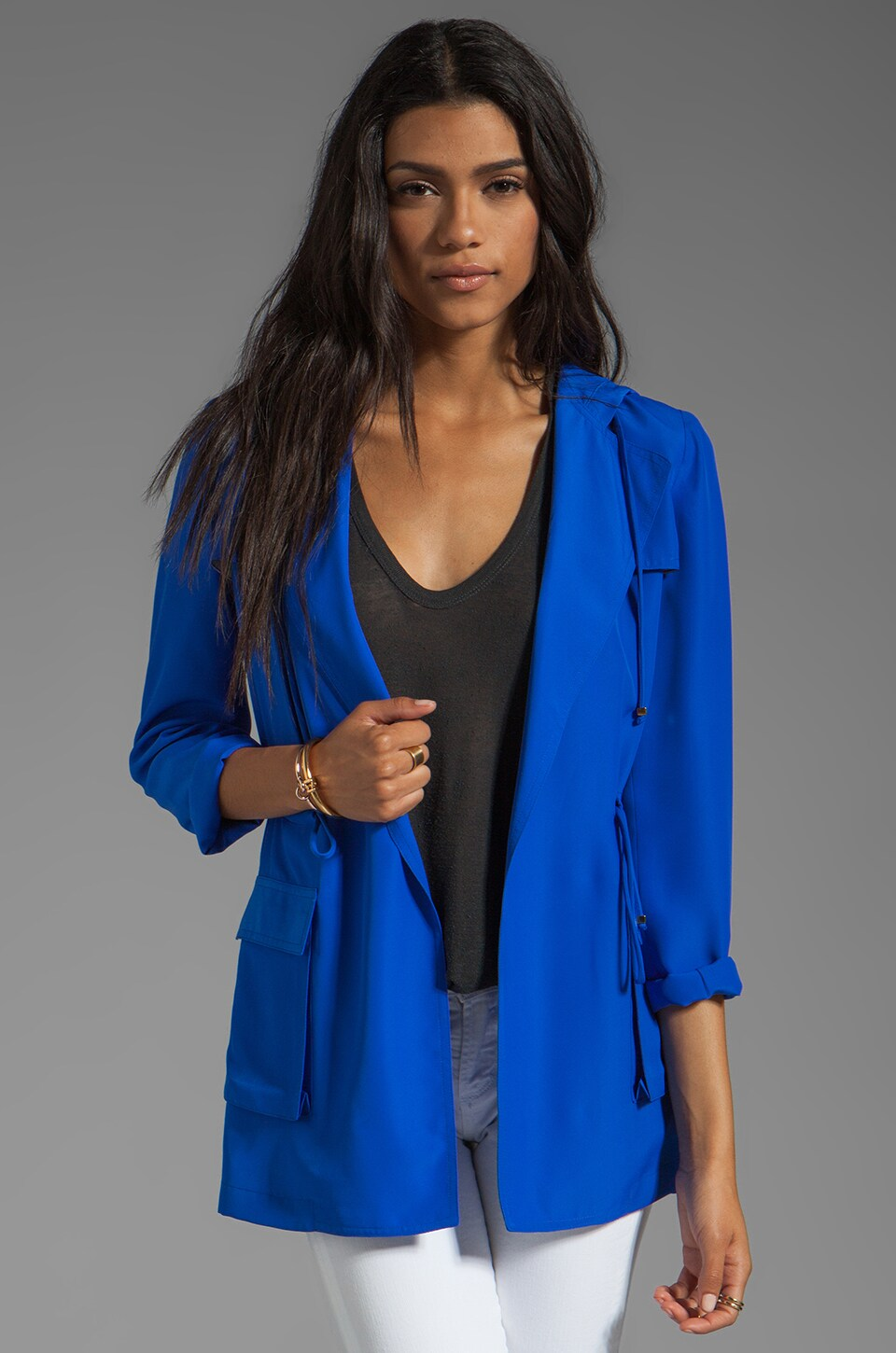 Naven Hooded Cargo Jacket in Vegas Blue
