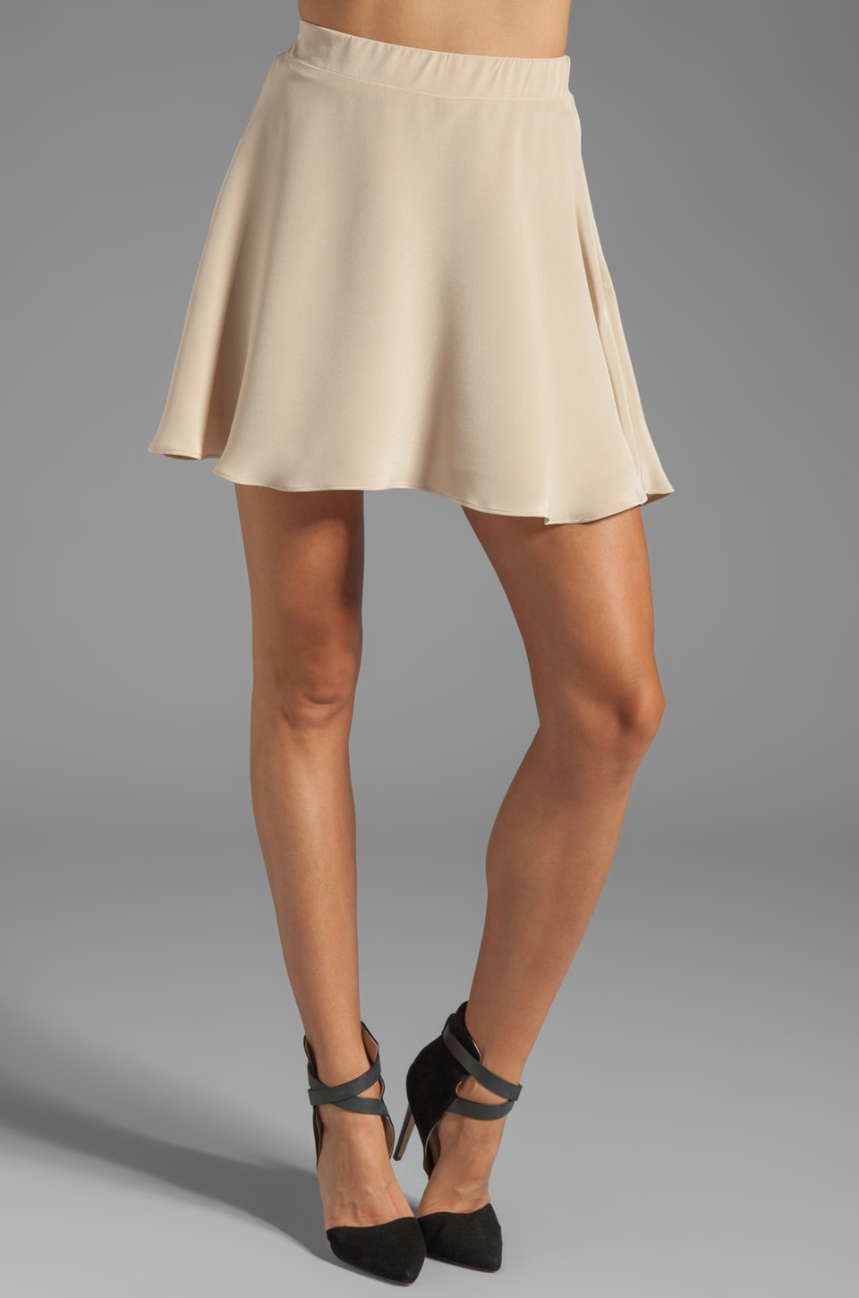 Naven Designer Circle Skirt in Tan