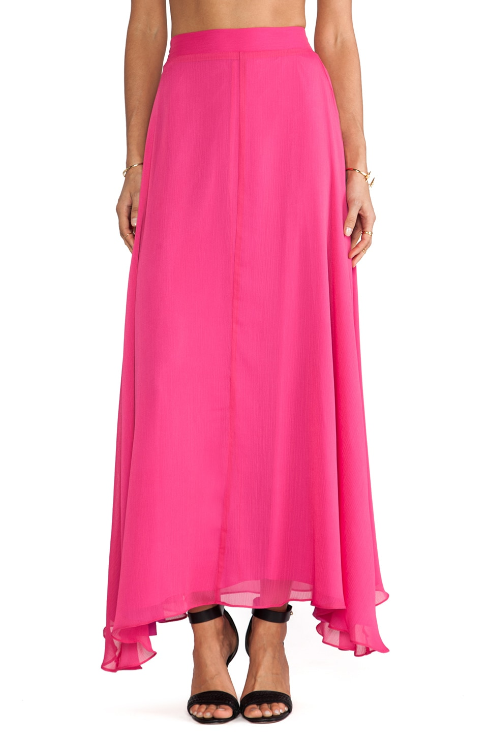 Naven Maxi Skirt in Pop Pink