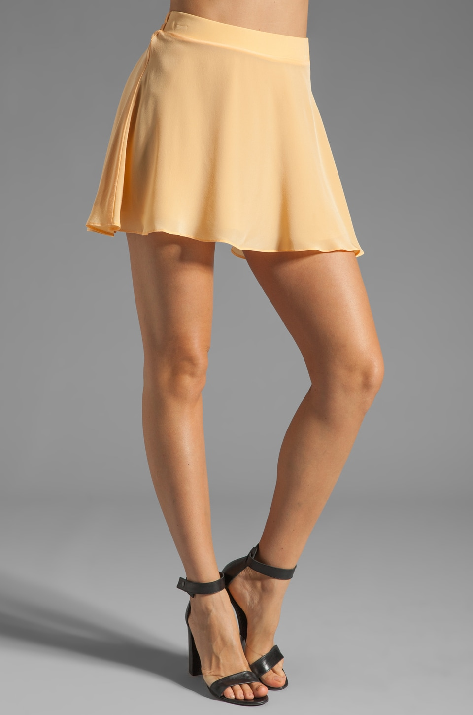 Naven Circle Skirt in Orange Sherbet