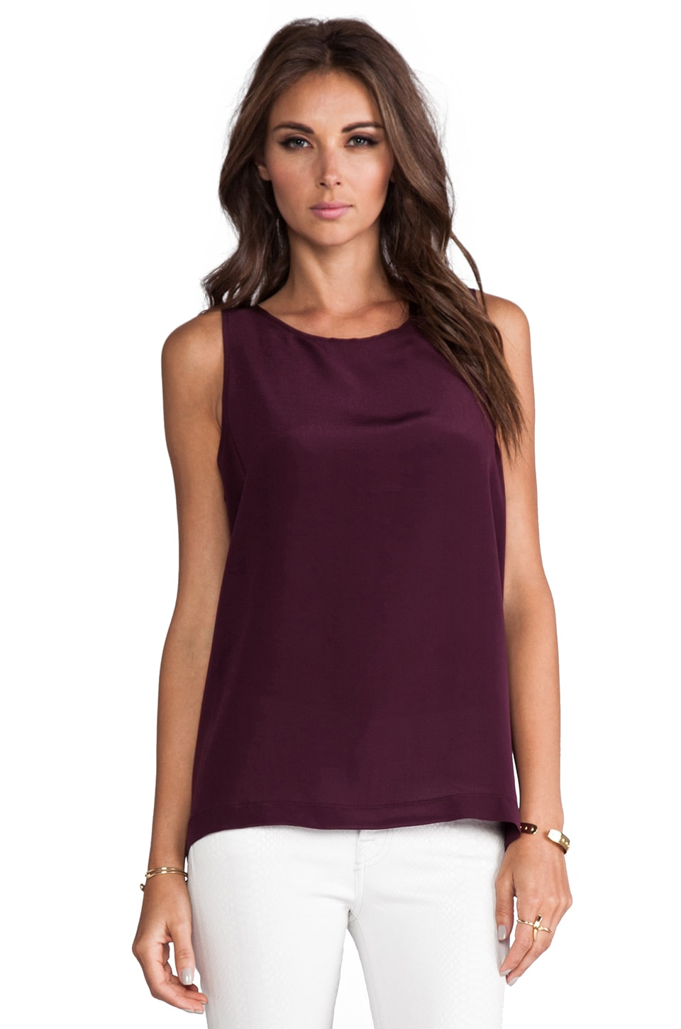 Naven Muscle Tank in Wine
