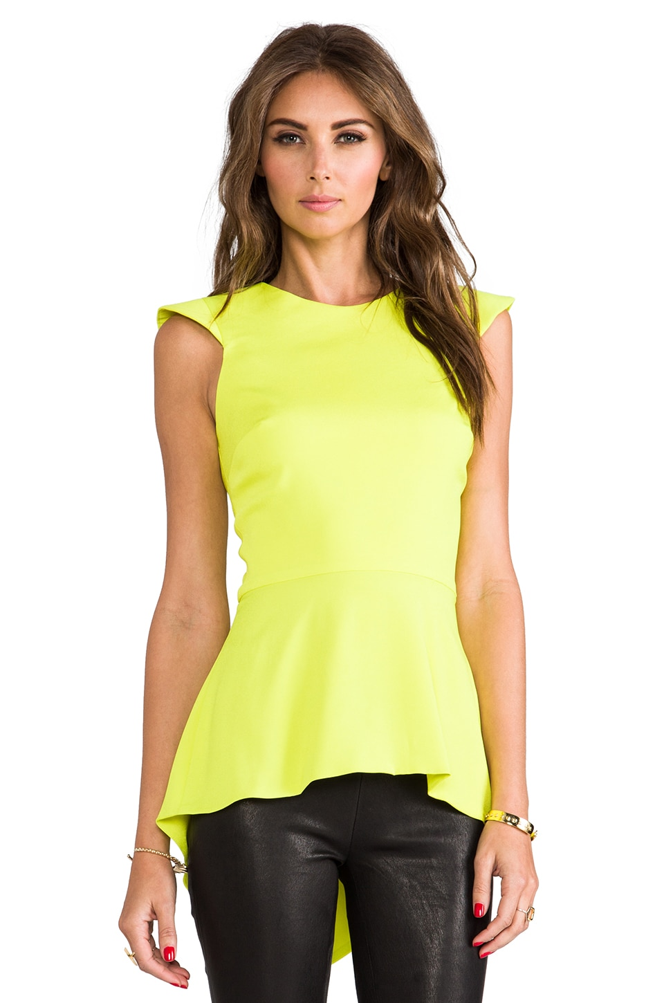 Naven Armor Blouse in Chartreuse