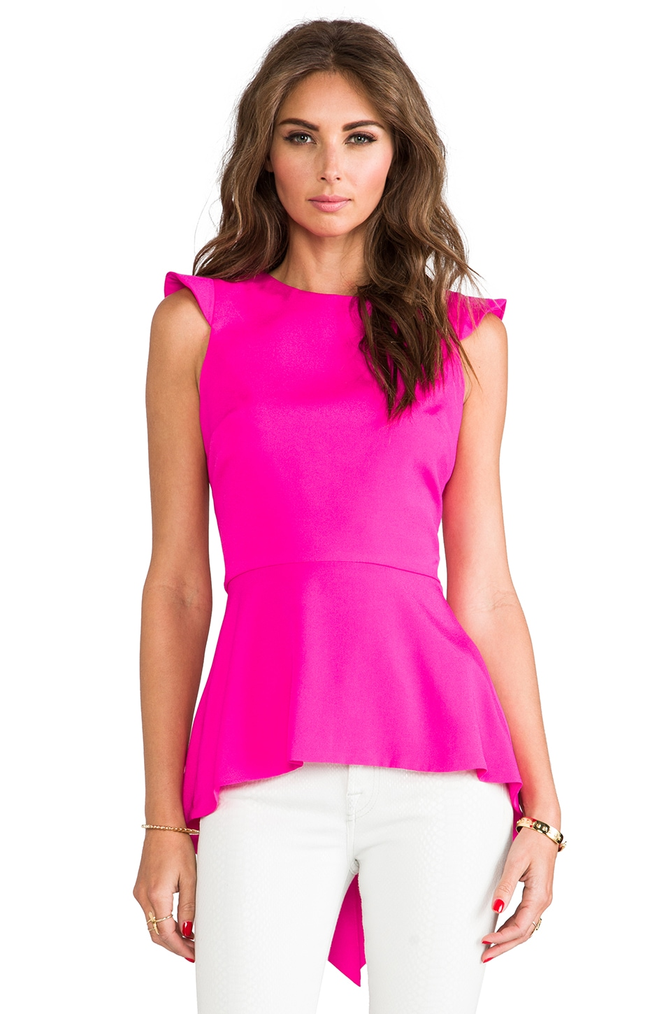 Naven Armor Blouse in Pop Pink